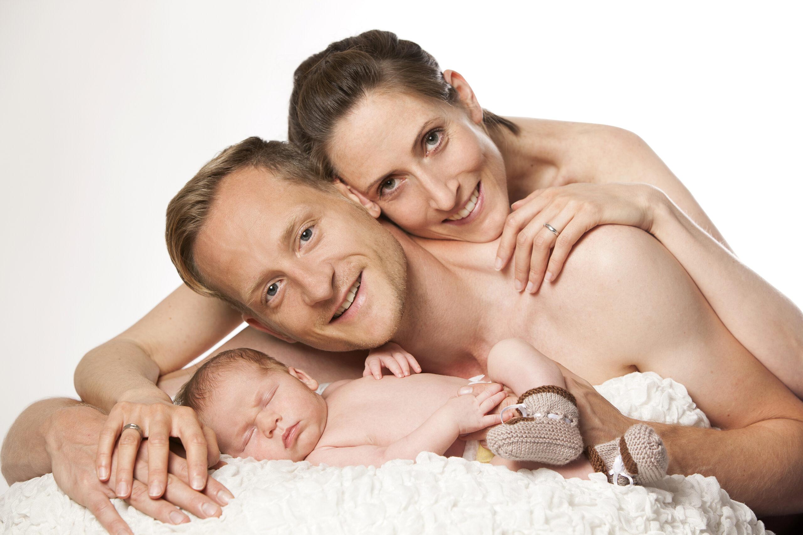 Familenfoto mit Baby